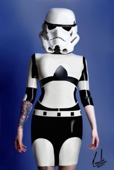 Storm Trooper Woman  by Omacahtl