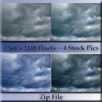 Storm Clouds 4-Pack Zip File by WDWParksGal-Stock