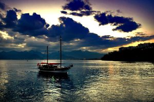 Boating Sunset 5435420 by StockProject1