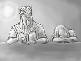 Sleeping dragonborn (again) by TwilightxsMonster