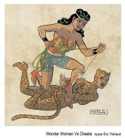 Wonder Woman vs Cheeta by mistertheriault