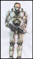 Hand drawn Master Chief by Nesasta