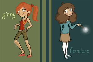 Potter Girls -dp style by BertieBottBeanie