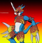 Flamedramon by BenjiPrice