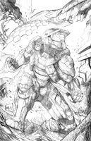 Master Chief Commission Pencils by hanzozuken