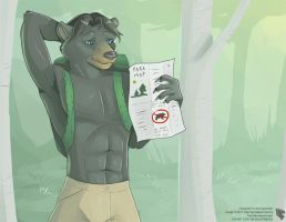 Anthro Male Calender 2014 - January by Ulario