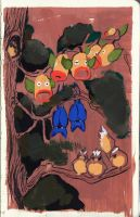 Tree with Pokemons by Havdrot