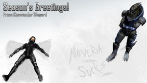 Season's Greetings from Shepard by Lordess-Alicia