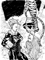 Kraven captures Tigra by Dogsupreme