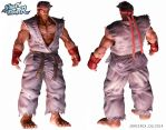 Ryu CG - front and back views (final model) by jorcerca