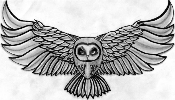 Inspired Gray Owl by ArtistAbstractly