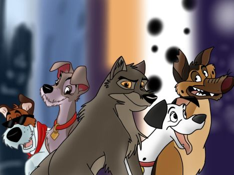 5 animated Dogs by JustSomePainter11