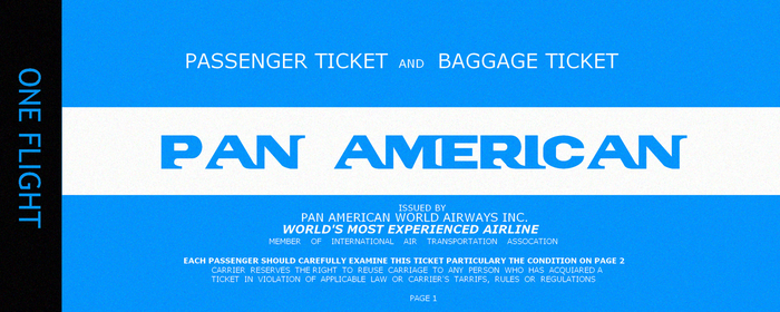 Pan American Ticket by Revolution689