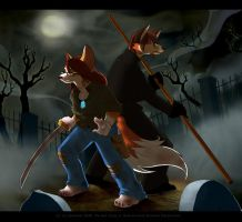 Puca and Spaz by mosskat