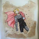 Edward Elric: Watercolor Practice by chochons