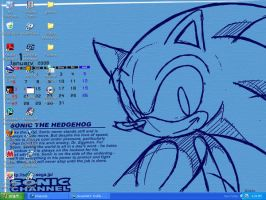 Sonic January desktop by BabylonRogues101
