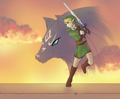 Link: Twilight Princess by tigeatoray