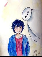 Hiro and Baymax by amzzz123
