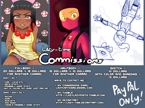 Paypal Commissions Info by lazy-Time