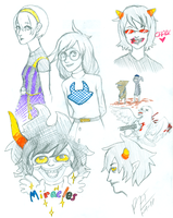 Homestuck Doodles by Royaline