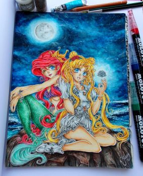 Magical Ariel and Usagi by ArtTreasure