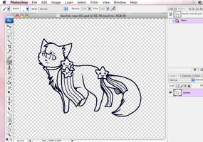 W.I.P of my new OC, Starlite by SoulCats