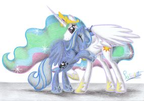 Celestia and Luna by Patoriotto