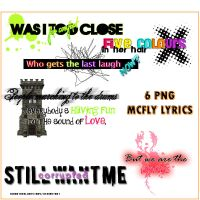 6 PNG McFly Lyrics by ToAnotherLoveStory