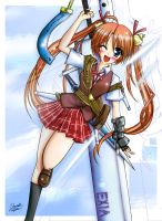 Asuna pic from negima by Duncoconut