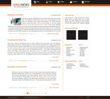 Wordpress Theme 'Daily News' by FeeL1987