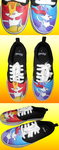 Braixen Pokemon Hand Painted Shoes by DruidicDesigns