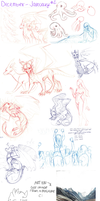 December - January Sketchdump 2 by aacrell
