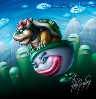 Bowser Flies by rykyramirez