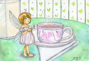 Tea time with a fairy by gohe1090
