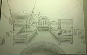 Team RWBY's Dorm Room! (Perspective Drawing) by JCPencilz