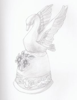 Swan Bell Sketch by LuckyLakes