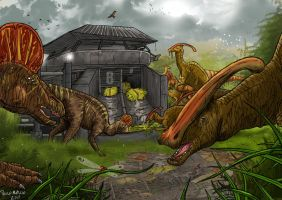 Jurassic Park duck bills by pauloomarcio