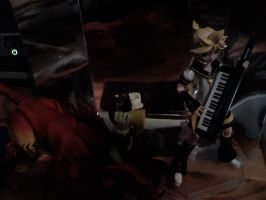 Len and Cait Sith jamming by Teamyx