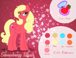 Strawberry Blush Ref Sheet by Lady-Blush