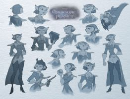 Captain Amelia sketches by tanya-buka