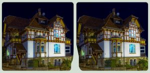 Villa quarter at night 3D ::: HDR Cross-View ::: by zour