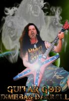 Guitar God Dimebag Darrell by revAndrewAnarchy