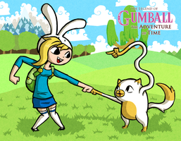 Wind Waker Style Fionna and Cake by Bradshavius
