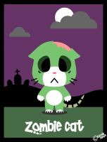 Zombie Cat by gen8