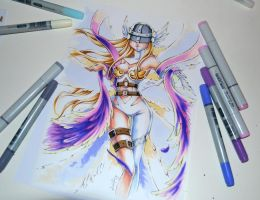 Angewomon - Digimon by Lighane