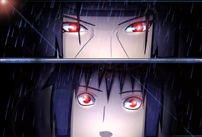 Uchiha Itachi and Uchiha Sasuke by 1GedoMazo1