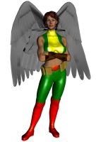 HawkGirl With Out Helmet by Stone3D