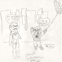 Ultimate Spiderman chibi sketch by Endeavor4ever