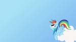 Dashie Stares at your Stuff (Wallpaper) by Atmospark
