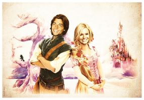 Flynn and Rapunzel_Reality by seduff-stuff